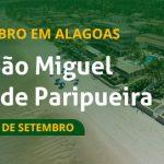 Feriado 07 de Setembro – Barra de São Miguel com Praia de Paripueira