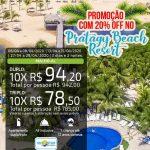 Pratagy Beach Resort - Promoção com 20% OFF