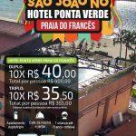 São João no Hotel Ponta Verde na Praia do Francês