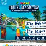 Carnaval Hotel Cambara - 13 a 17 de fevereiro 2021 - Passo de Camaragibe - AL